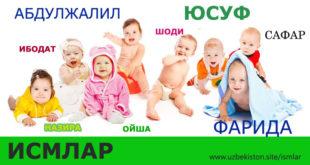 ismlar-uzbek