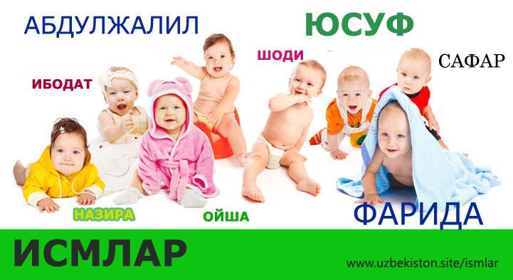 Исмлар маъноси, руйхати, замонови ва исломи - Узбекистон